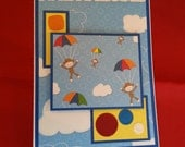 Happy Birthday Monkey and Buttons Card