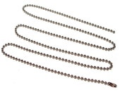 30 Inch Ball Chain - Aluminum bead chain 30 inch with connector - 2.4mm