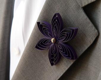 Amethyst Purple Boutonniere, Formal, Amethyst Prom, Purple Quinceanera, Purple Sweet 16, Homecoming