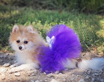 Fluffy Custom Dog tutu choose your colors SEWN XXS to XS