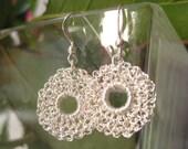 Errings Silver Crochet Donut D18mm