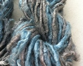 Handspun banana yarn. Starlight blue. Art yarn. Knitting yarn. Unique and inspirational. Vegan friendly.