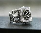 Celtic Love Knot Book Locket Ring