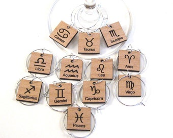 Zodiac - Wine Glass Charms