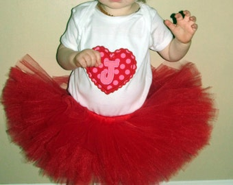Solid Red Tutu -NB to 4T