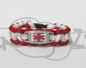 Tylenol Acetaminophen Allergy Medical Alert ID ALLOY Charm on Paracord Survival Strap Bracelet with Side Release Buckle
