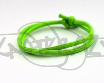 Stackable Simple Single Color Sliding Knot 550 Paracord Survival Strap Bracelet Anklet