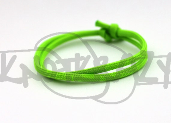 single sliding knot bracelet stackable simple single color sliding knot 550 paracord 9568
