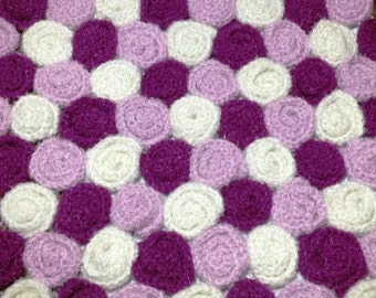 Rose Babyblanket or Lapblanket pdf pattern instant download