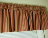 Rustic country red stripe valance