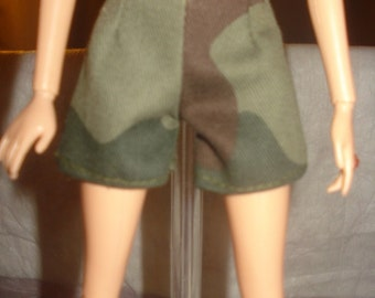 Fashion Doll Coordinates - Military camoflage shorts - es207