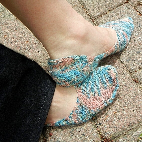 Knitting Patterns Footie Socks : Footie Sock Knitting PDF Pattern customize by ...