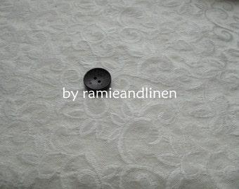 "silk fabric, Silk wool blend floral jacquard brocade fabric, Fat Quarter, 18"" by 21"""