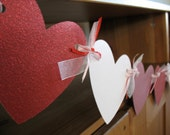 Heart banner, Valentine's Day party decoration, Valentines Day decor, Valentines Day party decor, Valentines Day banner, heart decoration