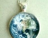 Great Earth Pendant - Our Planet Pendant-Astronomy Pendant-Space Necklace- Blue Pendant