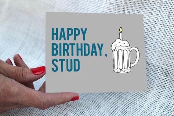 Funny Birthday Card Boyfriend / Happy by RockCandieDesigns ...