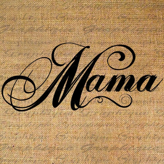 Items similar to mama words text calligraphy quote digital