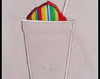 Snowball Applique Machine Embroidery Design