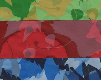 12x12 Silkscreened Leaves Papers for Bookbinding Scrapbooking Paper Arts Collage