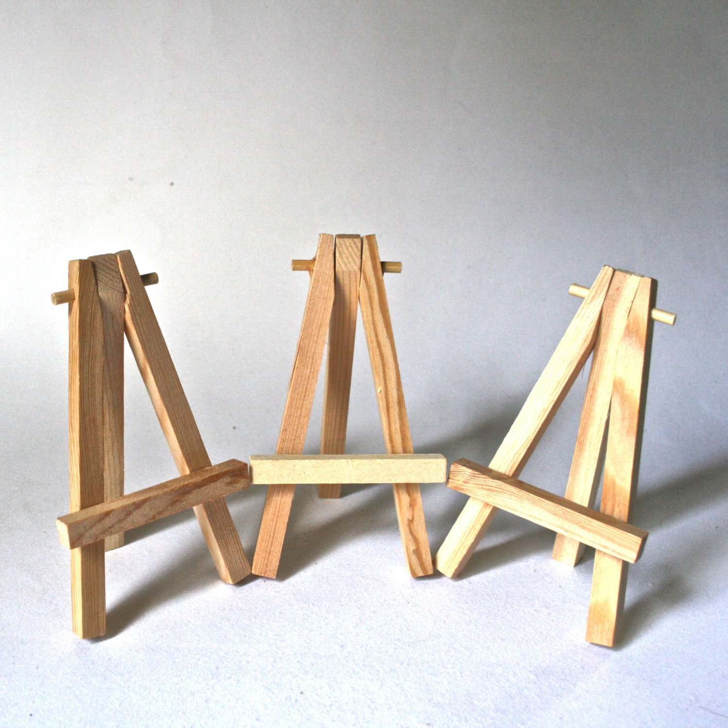 Three Small Wooden Easels for Display of Tiny Paintings