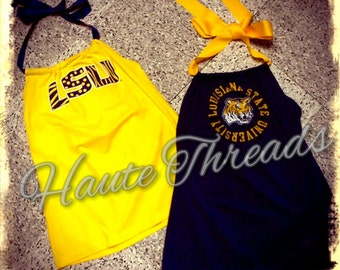 Custom One-Of-A-Kind Gameday Spirit Converted Shirts: One-Shoulder, Halter, Strapless - Made from YOUR Favorite Tee