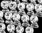 50% OFF LIST PRICE - One - 3mm Round Natural White Topaz Faceted Gemstone