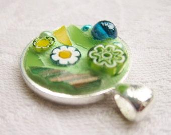 Light green Mosaic Pendant