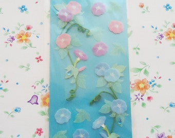 Japanese  Morning Glory Flowers Set Sticker Sheet. Really cute.