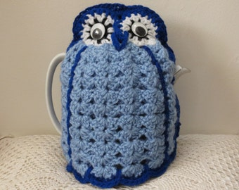 Handmade in Australia Blue Owl Tea Cosy  Gift