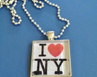 NY Pendant Necklace