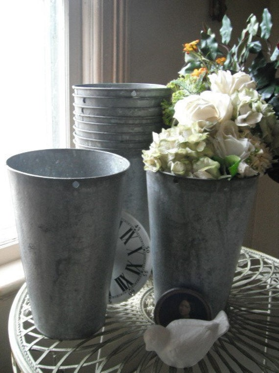 wedding buckets Vintage sap buckets galvanized buckets antique buckets shabby chic French country rustic prairie RESERVED