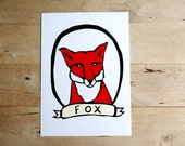 Red Fox 5x7 Archival Print Spring Woodland Nature Animal Wall Decor