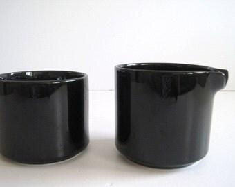 Trend Pacific  BAUHAUS BLACK Creamer and Sugar w/o lid