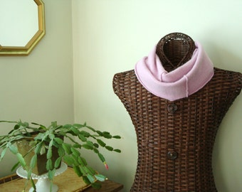 LAVENDER Infinity Scarf Cashmere Infinity Scarf Purple Upcycled Eco Fashion WormeWoole