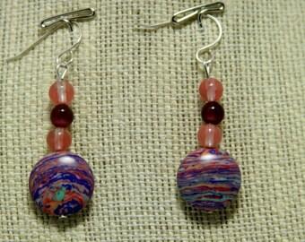swirl stone earrings