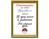 Pokemon Love Poem Counted Cross Stitch Pattern PDF