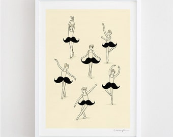 The Ballet of Mustache - art print
