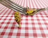 Fun Food Earrings... Corn Dogs With Mustard