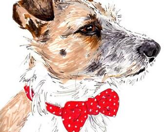Custom Pet Portrait - Custom Dog Portrait 8 x 11 inches -| Custom Dog Art -  Dog Drawing - Custom Dog Drawing Pen ank Ink Illustration