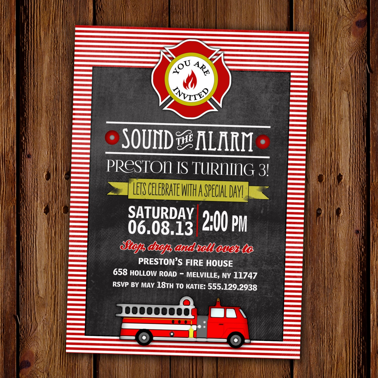 Fire Truck Party Invitations The Best Invitation In 2017 – Fire Truck Party Invitations