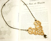 gold lace necklace -VALONYA- metallic gold