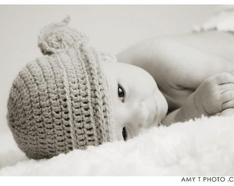 Infant Baby Yoda Hat with Ears Photography Prop or Fun Baby Shower Gift Star Wars