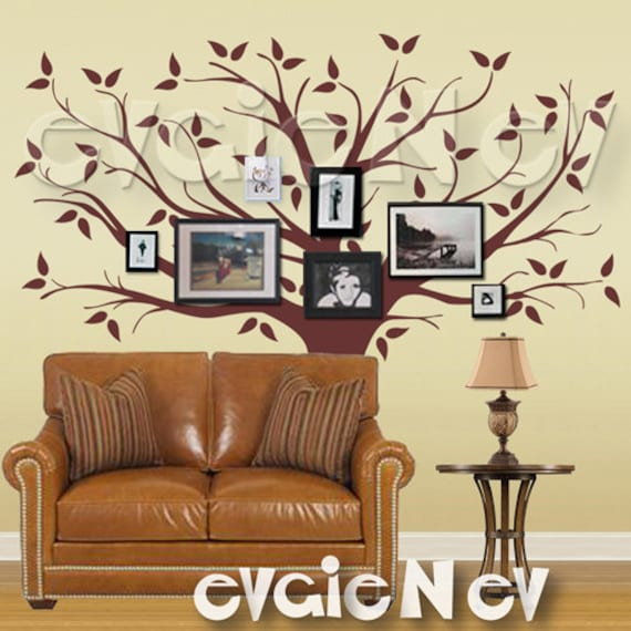 Family Tree Wall Decal Picture Frame Background Wall Decals