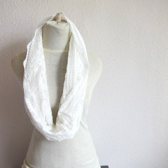 Bridal Scarf - Wedding Scarf - Bridesmaid Scarf - Party Scarf - Candy  LaceScarf- Circle Scarf