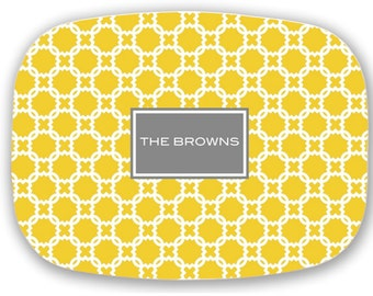 Personalized Platter, Monogram Decorative Tray  Choose your Colors - Wedding Gift, Hostess Gift, Gift for Mom, Shower gift