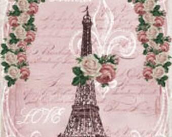 Valentine Gift Tag, Marie Antoinette Paris Vintage Original Design Tags Digital Download You Print ECS