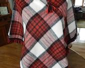 Vintage Pioneer Wear  wool, plaid poncho