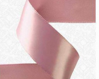 1/8 x 100 yds Single Face Satin Ribbon - ROSY MAUVE