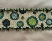 Green Circles Peyote Stitch Bracelet