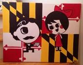 Edgar Allen Boh Proposing to Utz Girl Painting